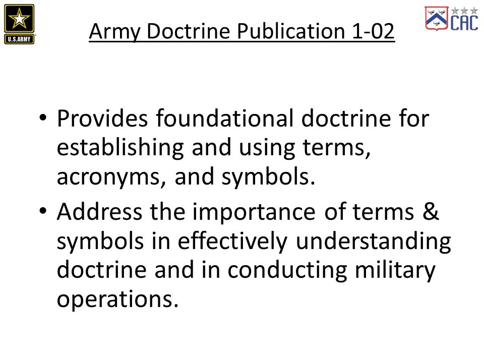 ADP/ADRP 1-02, Operational Terms and Military Symbols