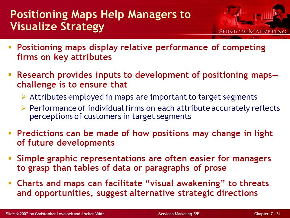 positioning services in competitive markets outline Marketing, strategy, and competitive analysis  necessary to position a product in the mar-  a look at the overall market for your product and service and.