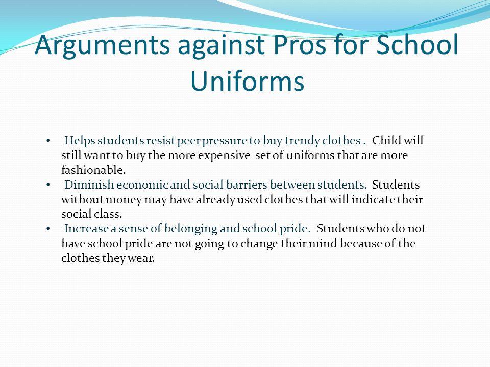pro arguments for school uniforms