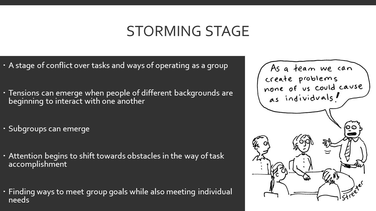 storming stage of group development