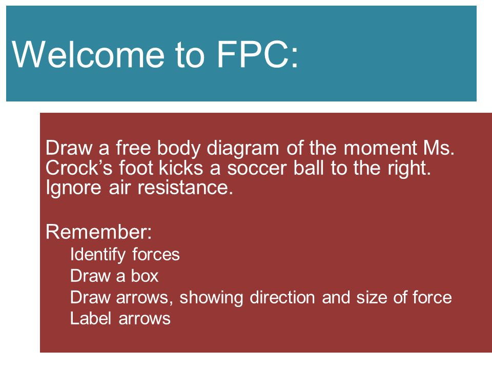 Forces day ppt video online download welcome to fpc draw a free body diagram of the moment ms crocks foot ccuart Gallery