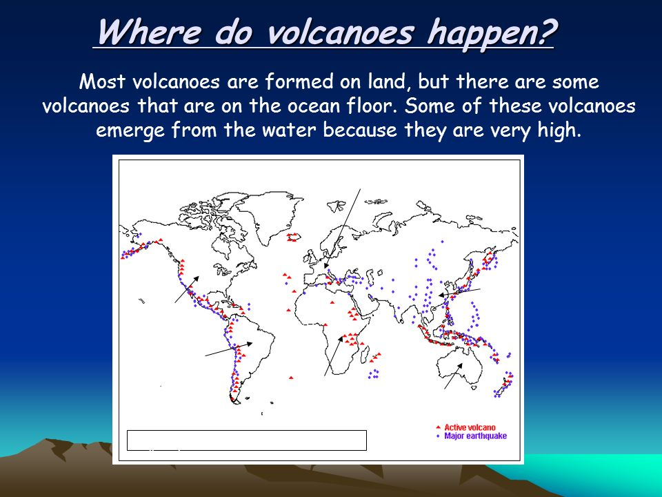 volcanoes not just one type  what are volcanoes? where do they