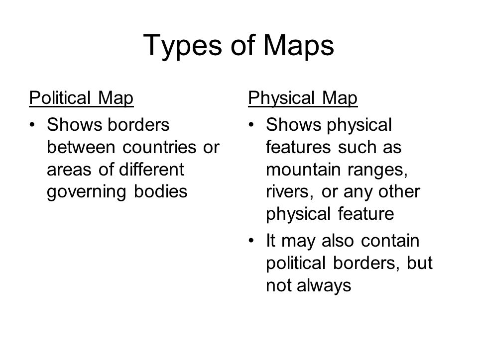 Types Of Maps Political Map Ppt Video Online Download