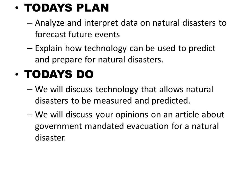 Future Natural Disasters Predictions