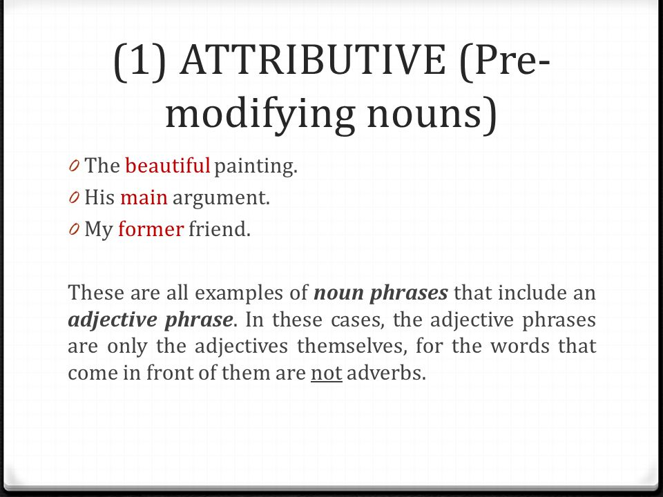 Syntactic Functions of Adjectives - ppt video online download