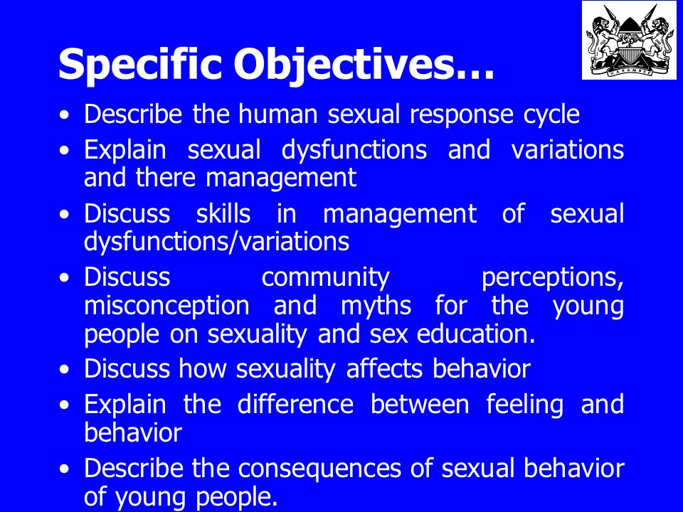 Purpose of human sexuality education