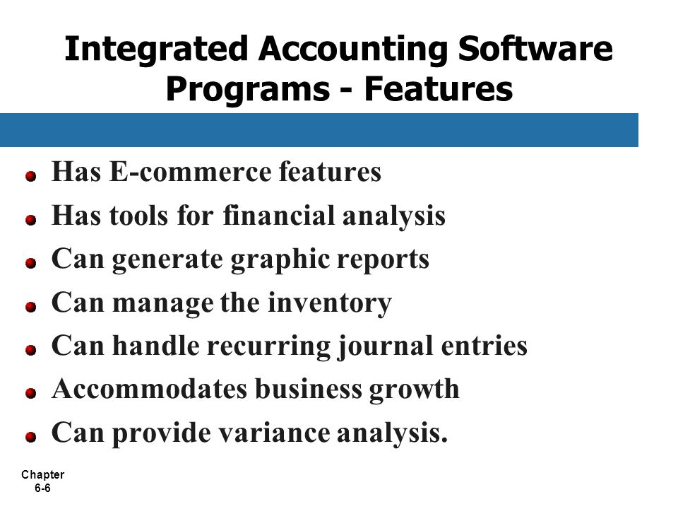 Chapter 6 Accounting and Enterprise Software - ppt download