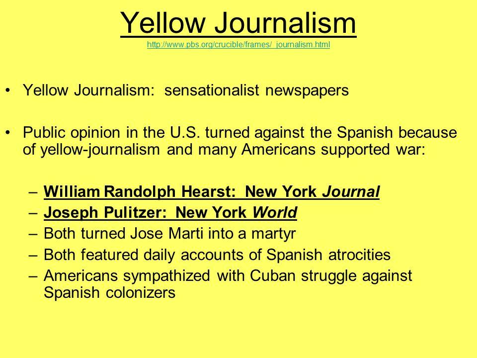 explain yellow journalism