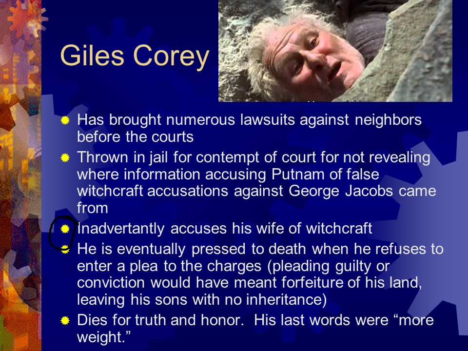 who was giles corey