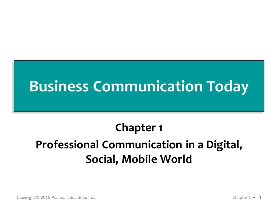Business Communication Today Ppt Download