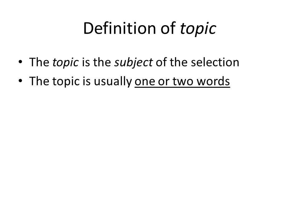 theme topic definition
