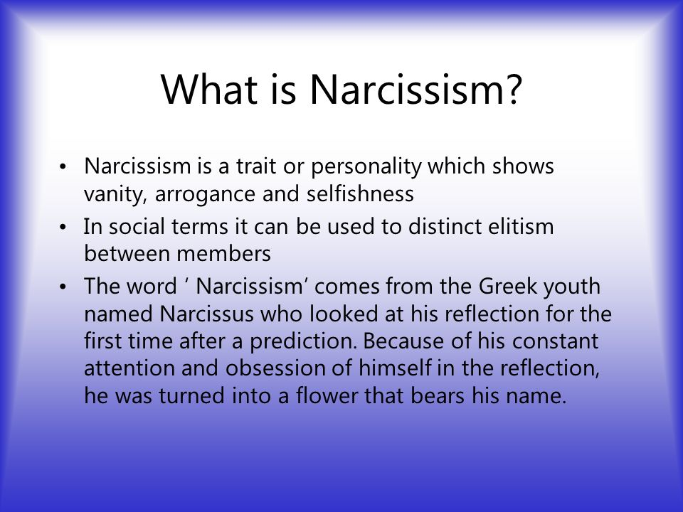 Image result for narcissism