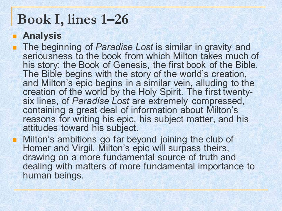 paradise lost themes