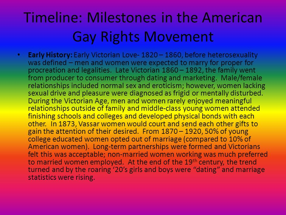 Homosexual rights timeline movie