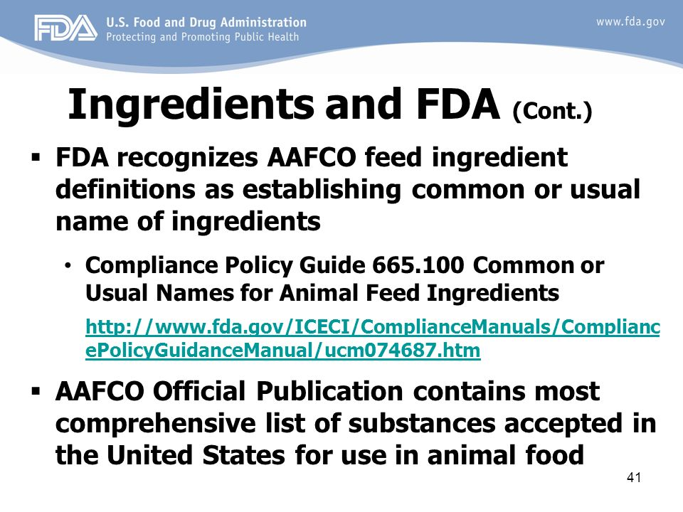 Overview of Animal Food Regulatory Program - ppt video