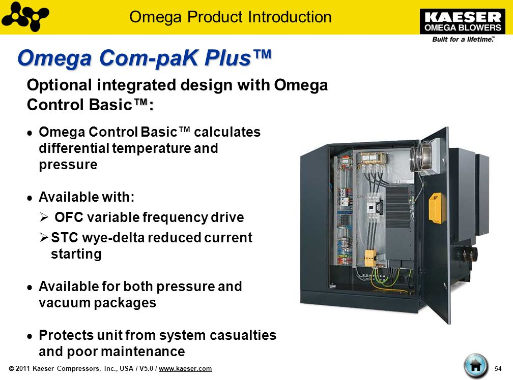 Kaeser Omega Blowers and Blower Packages - ppt download