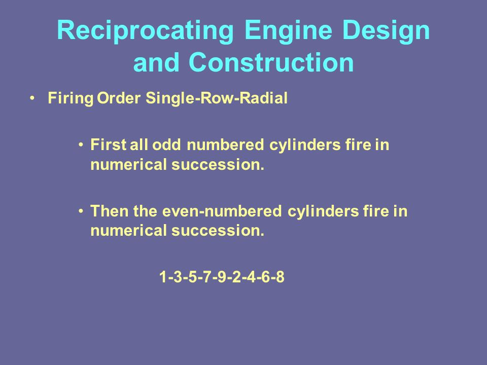 Lesson 4: Reciprocating Engine Design and Construction - ppt