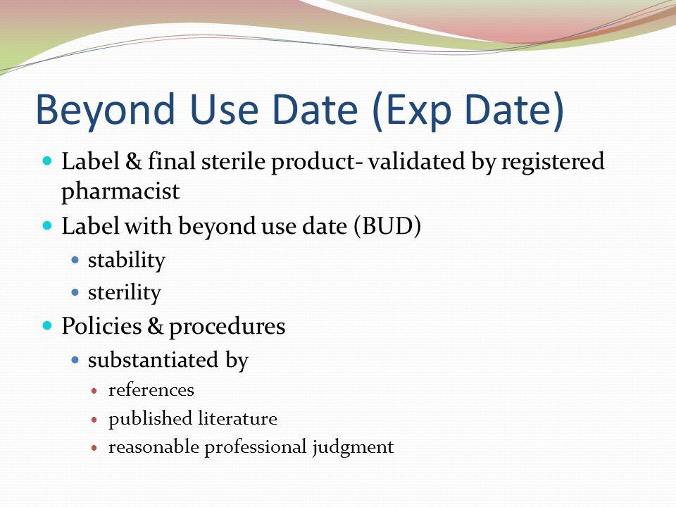 usp 797 beyond use dating