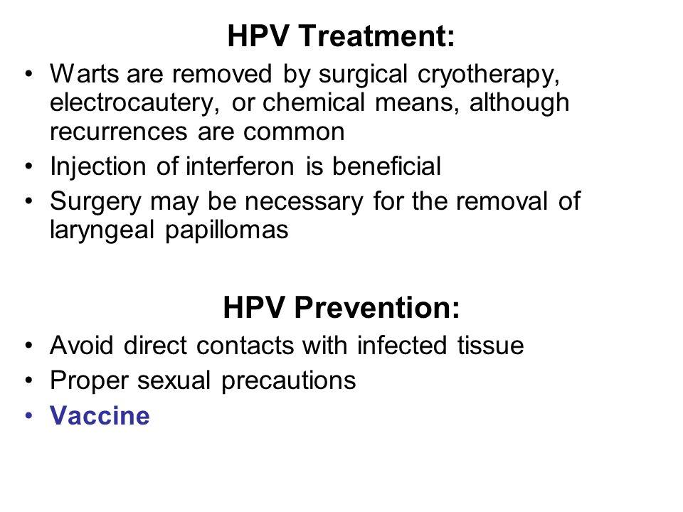 human papillomavirus prevention and treatment curățarea camerei de paraziți