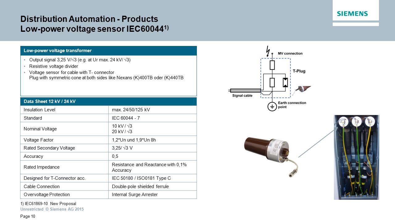 Distribution Automation Ppt Video Online Download Voltage Divider Virtual Earth Circuit Products Low Power Sensor Iec600441