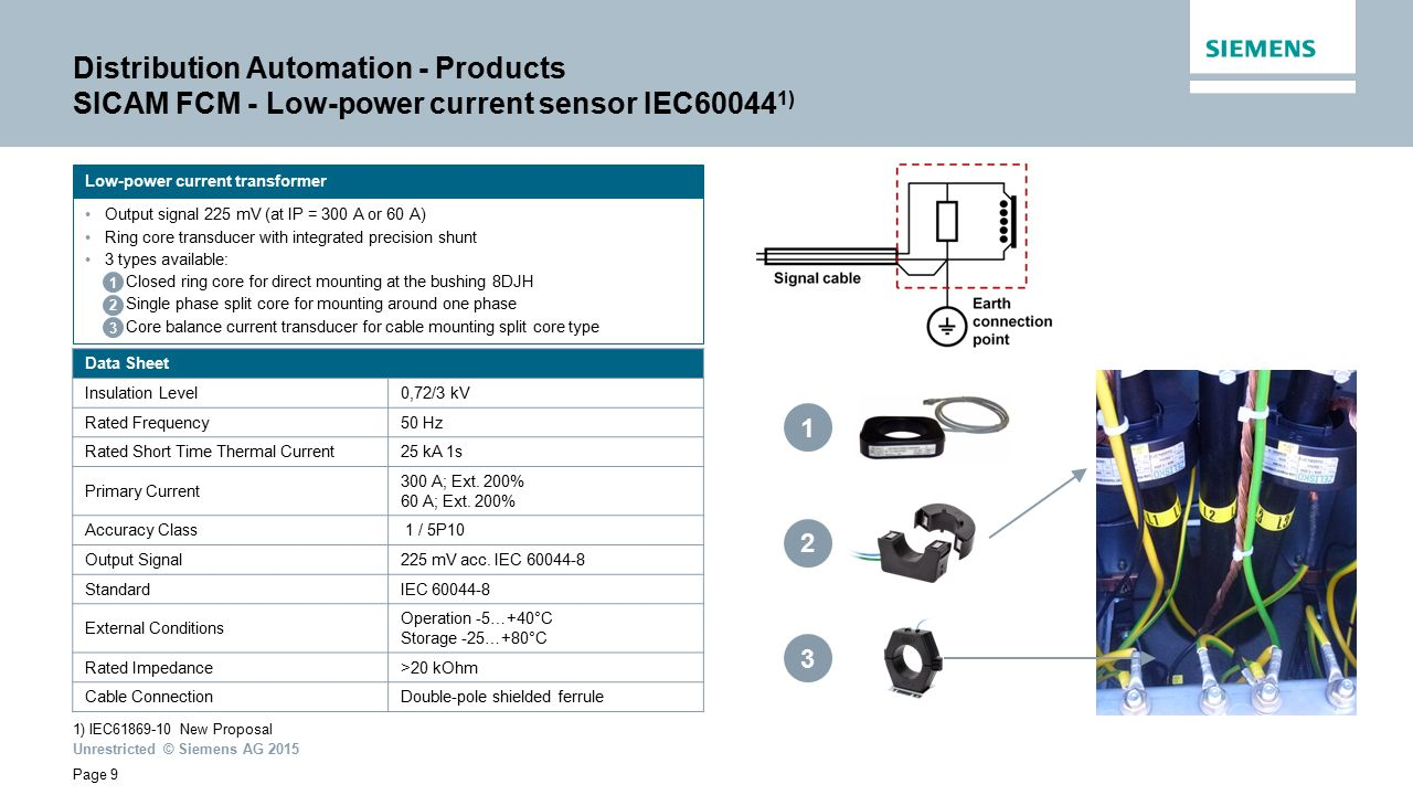 Distribution Automation Ppt Video Online Download Voltage Detector6400v Twopole Testermultifunction Circuit Products Sicam Fcm Low Power Current Sensor Iec600441