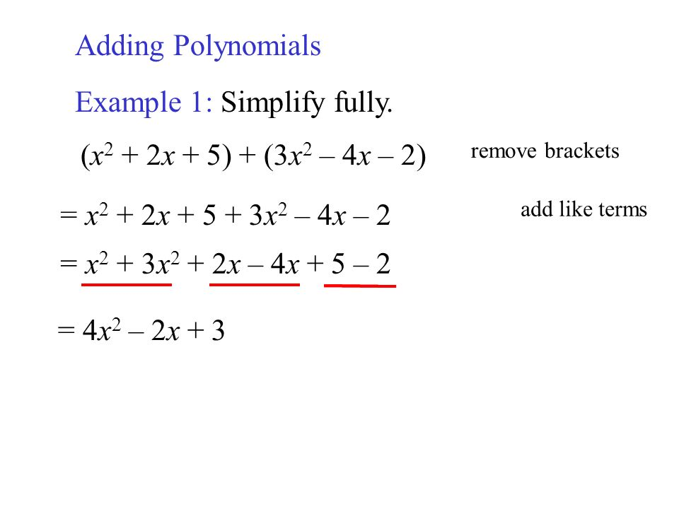 Review Of Polynomials Term 5x4 Exponent Numerical Coefficient Ppt
