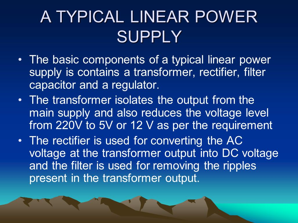 Computer Smps Power Supply Ppt Video Online Download Picture Of Variable Voltage Regulator Filtered Linear A Typical