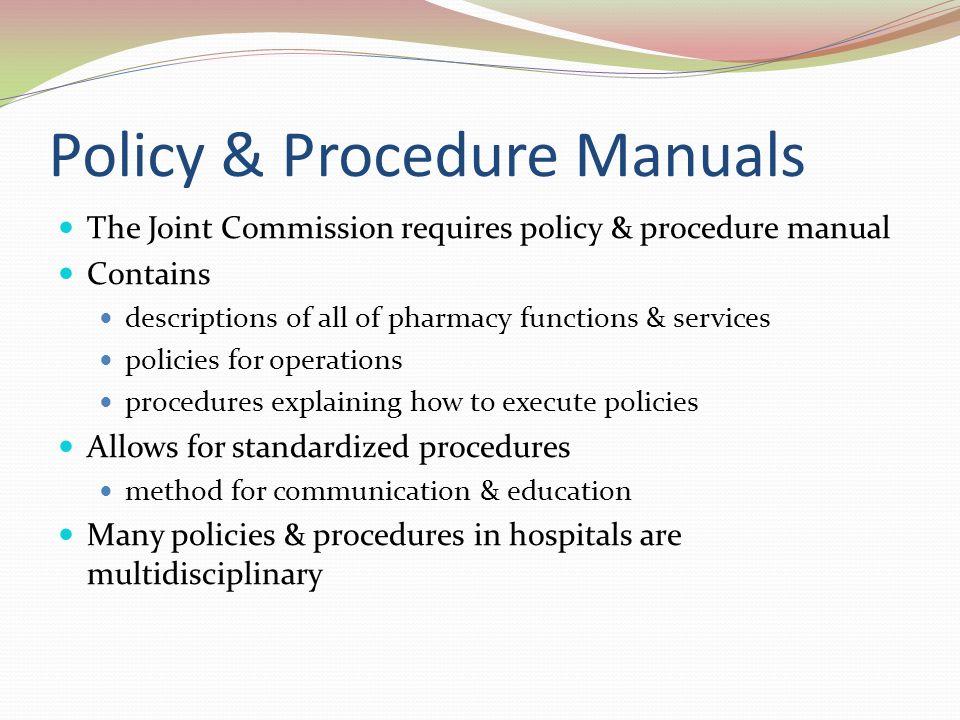 Pharmacy procedure manual examples online user manual introduction to pharmacy practice ppt video online download rh slideplayer com writing standard operating procedures procedure maxwellsz