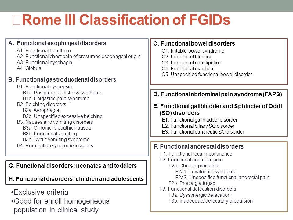 기능성 소화기질환에서 중복증후군의 임상적 의미 - ppt download
