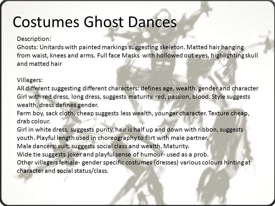 ghost dances themes essay