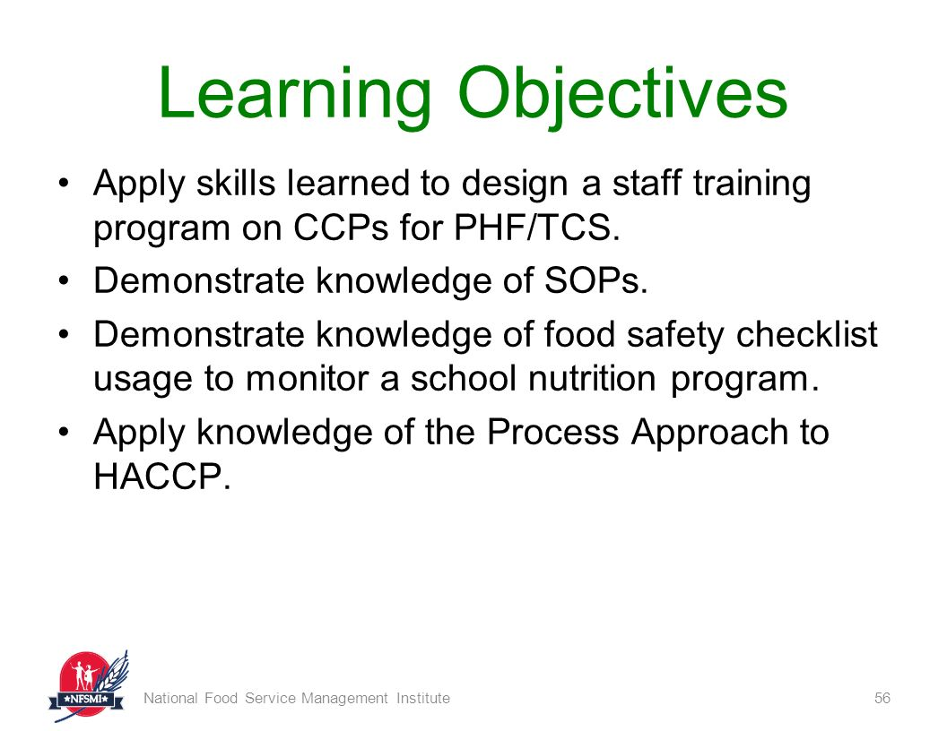 Food Safety Basics National Food Service Management