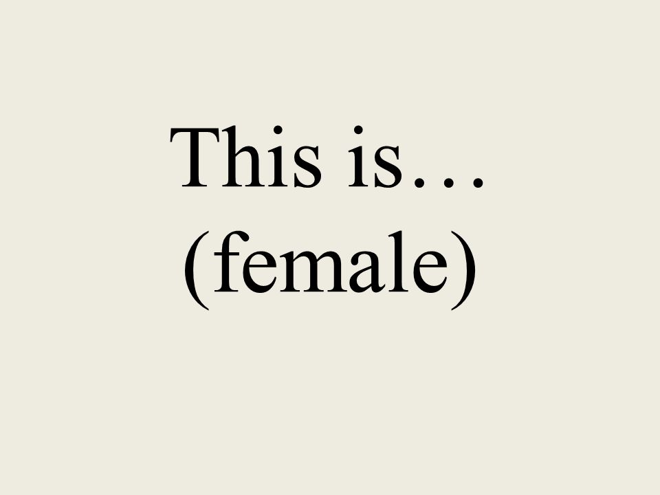 This is… (female)