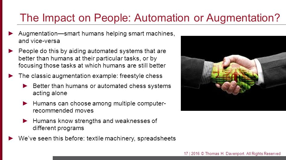 The Impact on People: Automation or Augmentation
