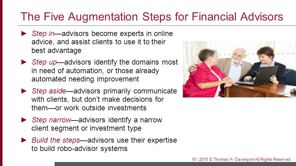The Five Augmentation Steps for Financial Advisors