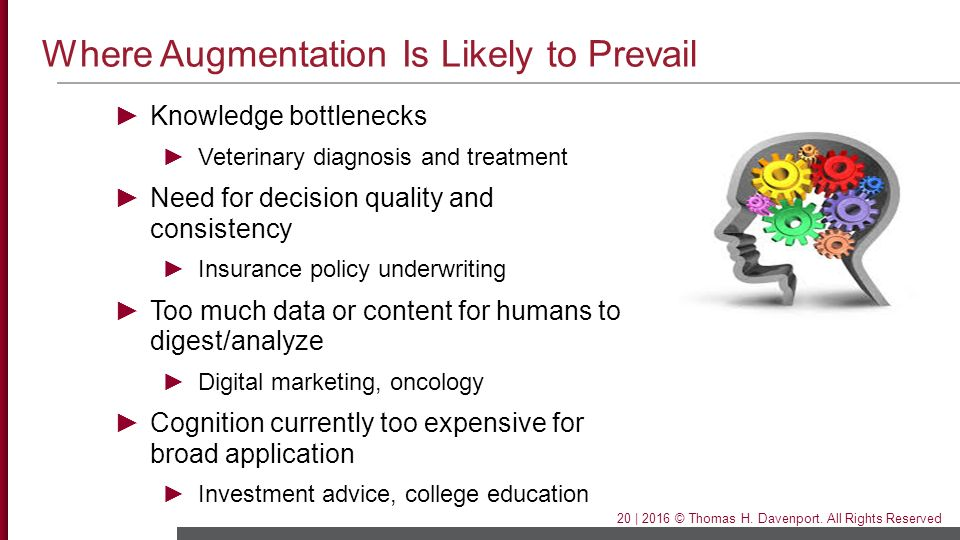 Where Augmentation Is Likely to Prevail