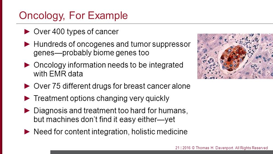 Oncology, For Example Over 400 types of cancer