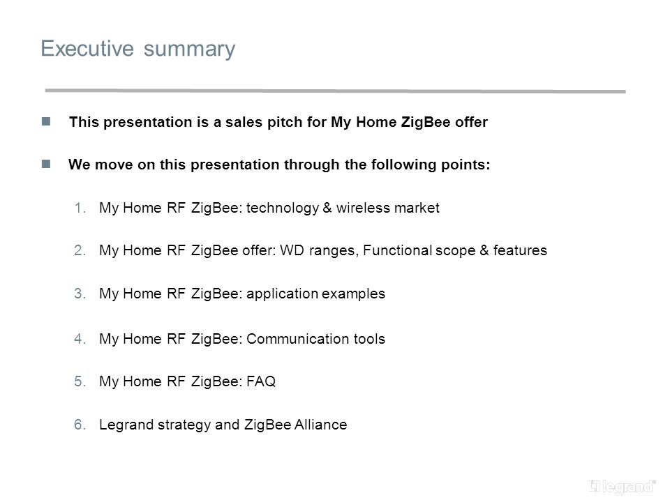my home rf zigbee sales pitch ppt download