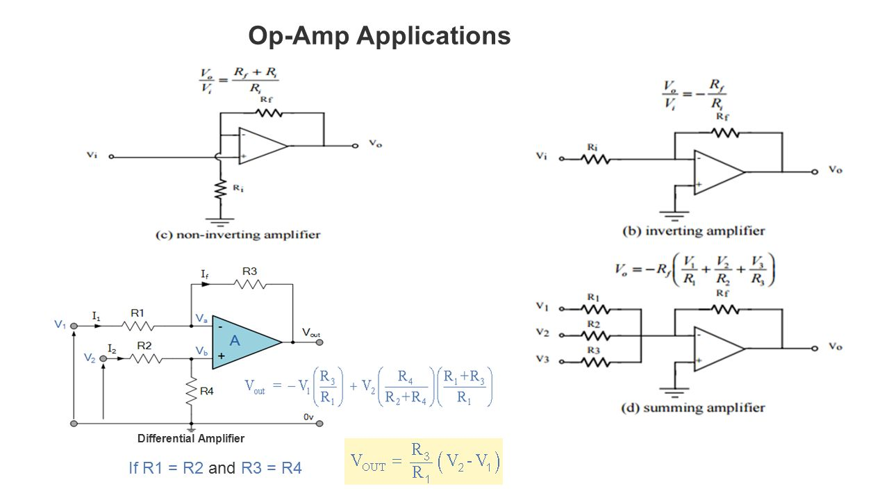 Operational Amplifiers Ppt Video Online Download The Amplifier Used As An A Simple Explanation 21 Op Amp Applications Differential If R1 R2 And R3 R4