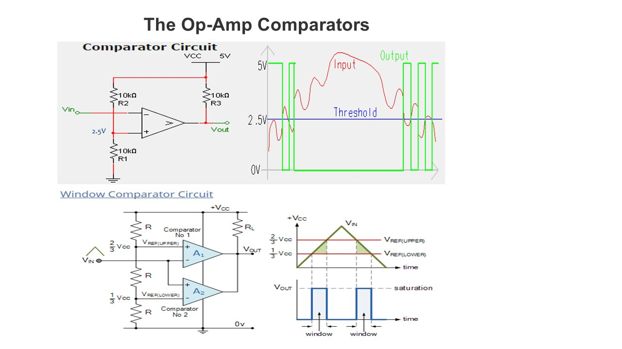 Operational Amplifiers Ppt Video Online Download Op Amp Single Supply Opamps In Series Electrical Engineering 26 The Comparators