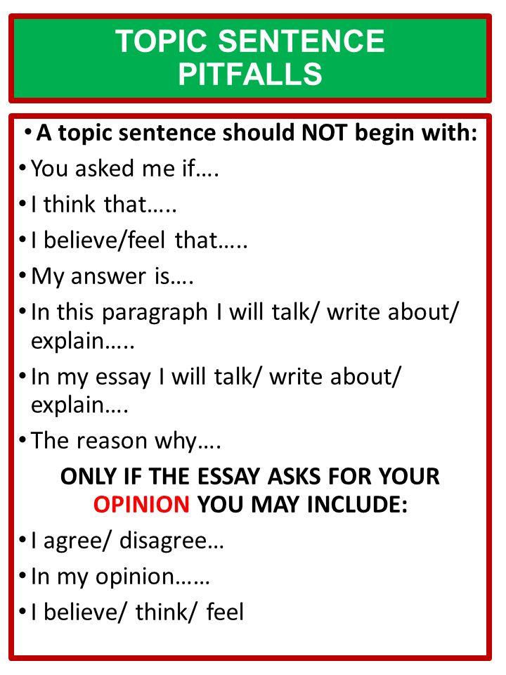 informative paragraph topics