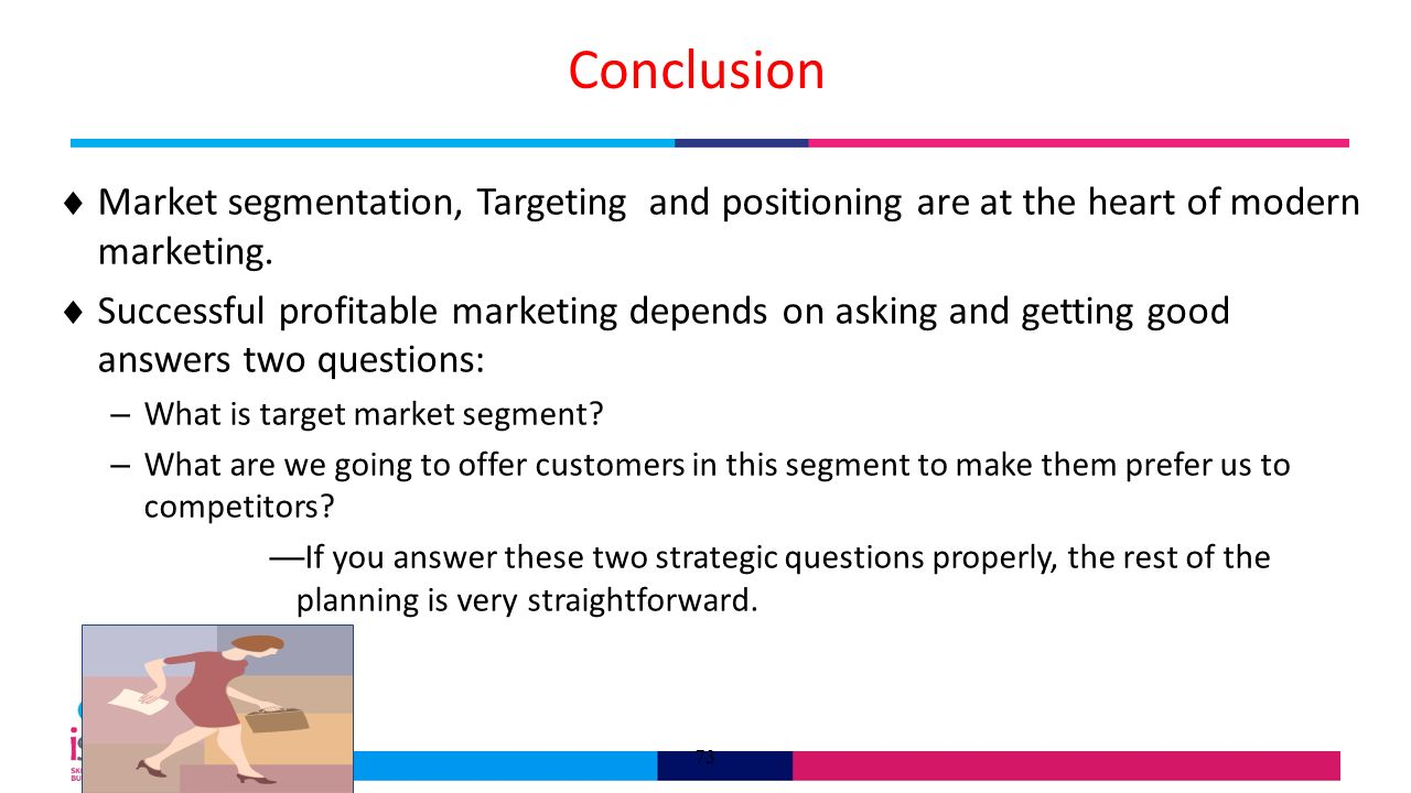 conclusion of market segmentation