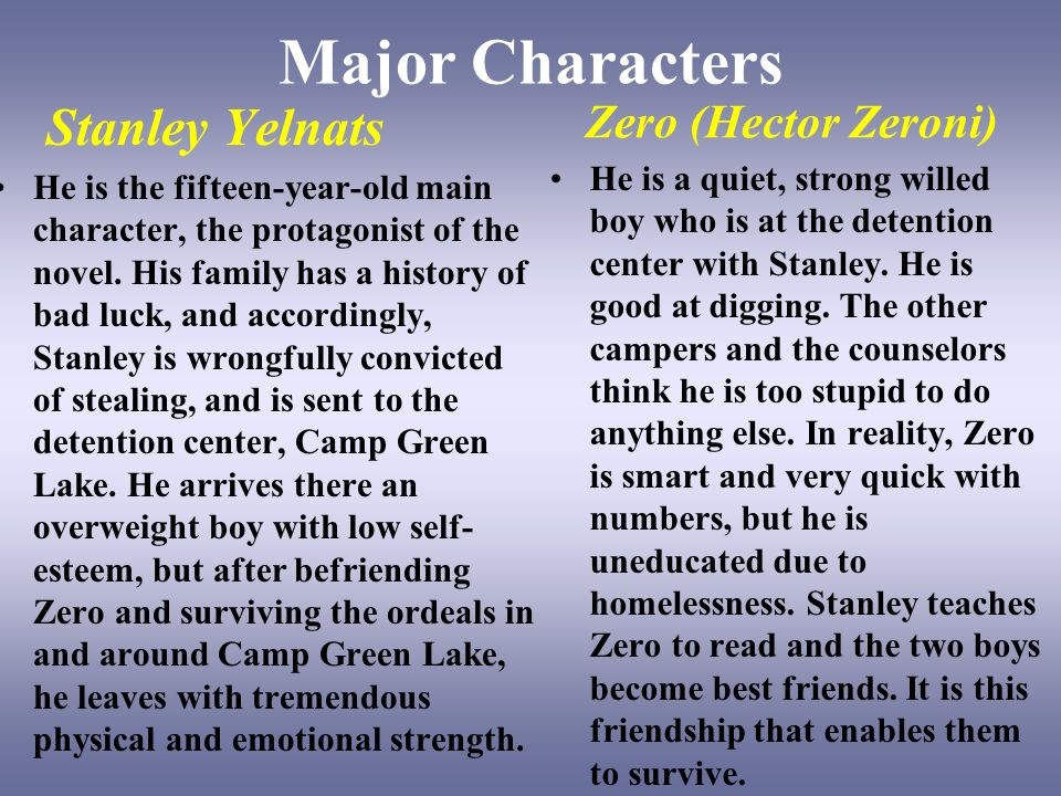 stanley character analysis