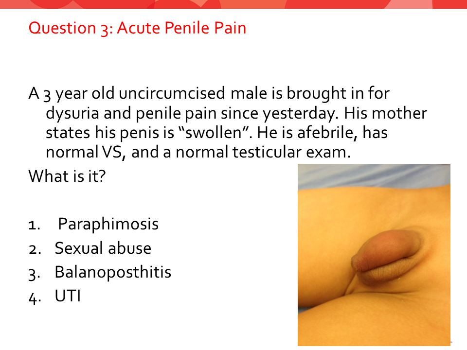 What causes pain in penis