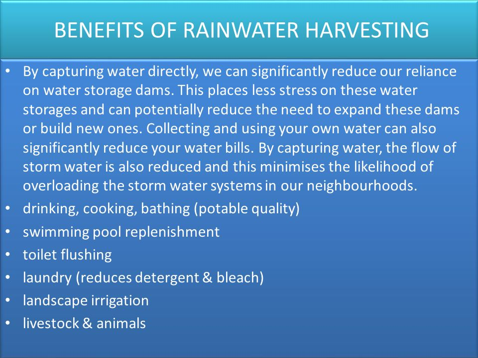 Rainwater Harvesting Ppt Video Online Download