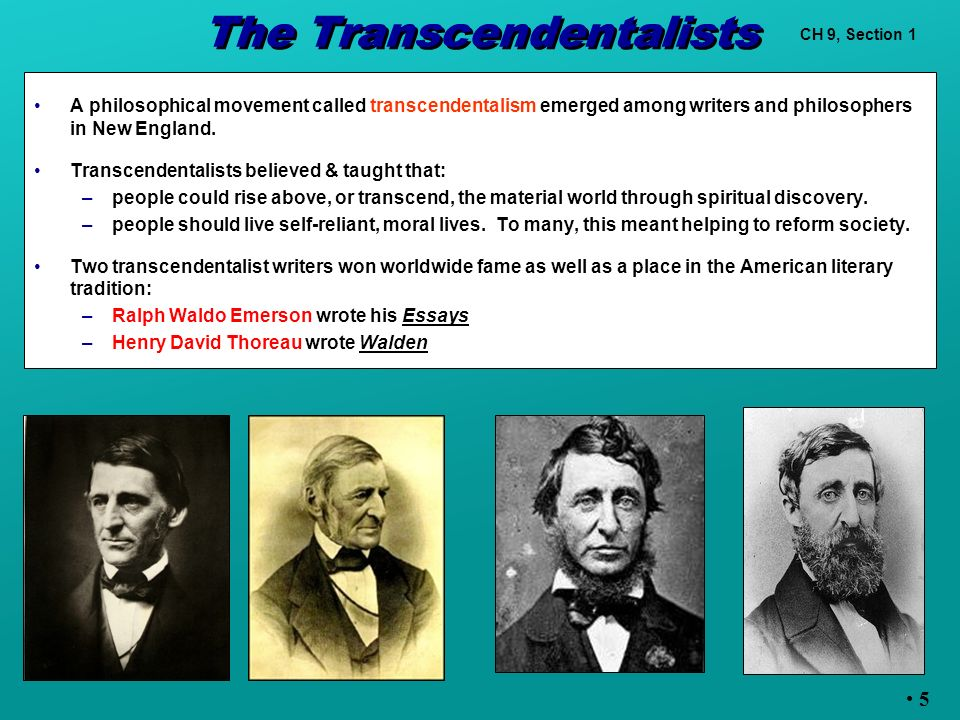 american transcendentalist writers