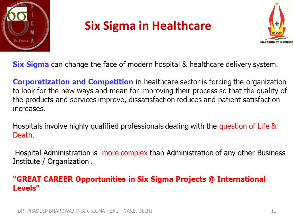 Power Of Six Sigma In Hospitals Healthcare Management Ppt Video