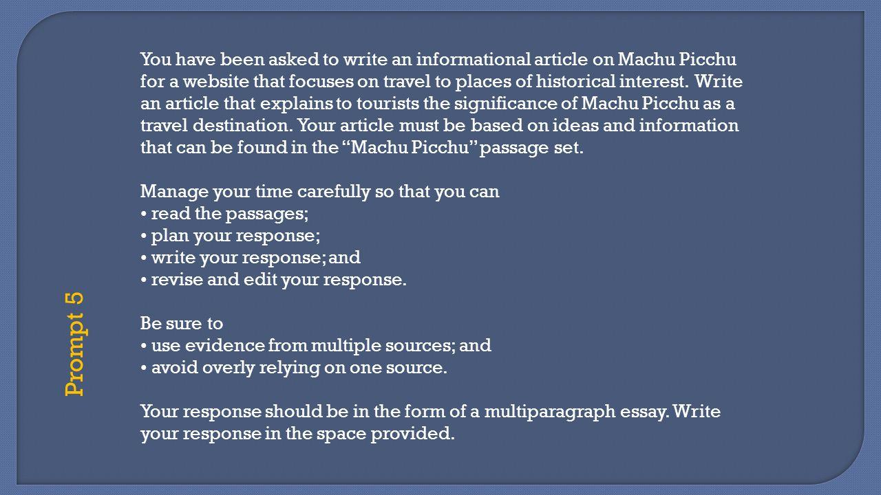 essay about machu picchu