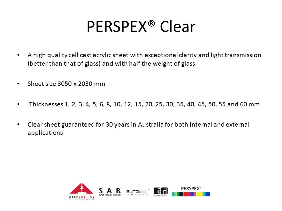 PERSPEX® Clear