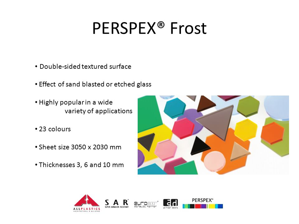 PERSPEX® Frost Double-sided textured surface