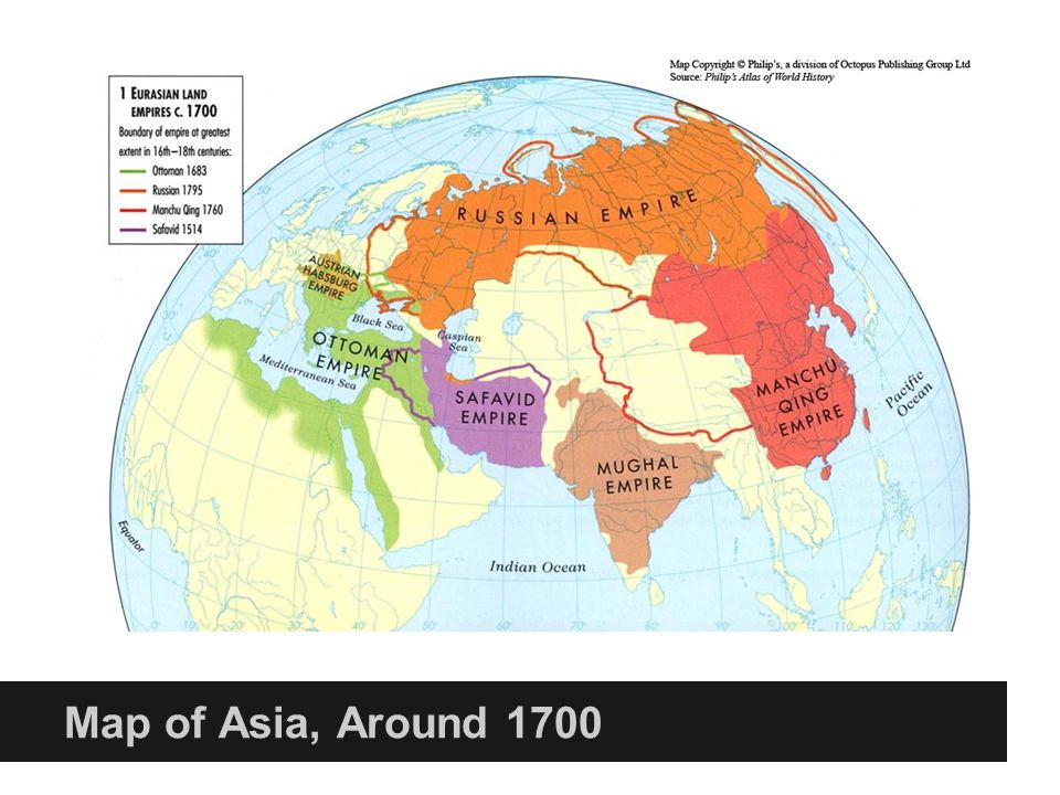 History of asia 8000 bce present ppt download 25 map of asia around 1700 gumiabroncs Choice Image